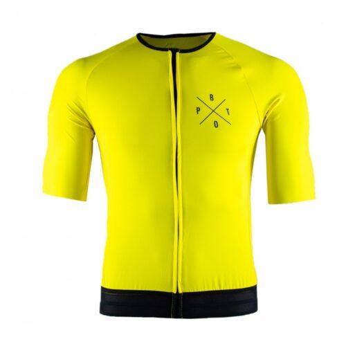 Camiseta de ciclismo Pedal Bruto Premium Yellow